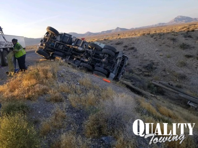 Rolled Over Truck